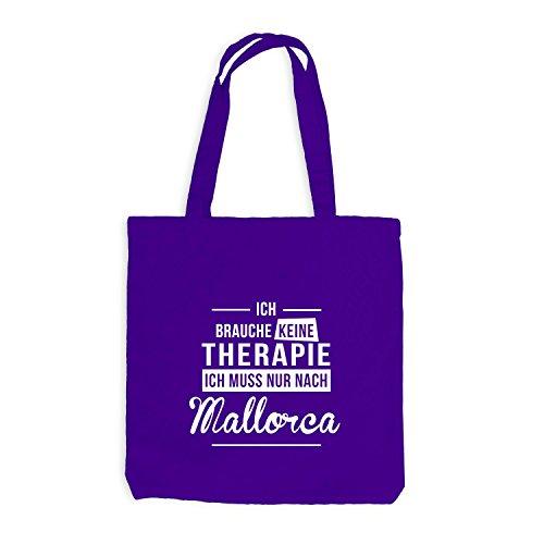 Jutebeutel - Ich Brauche Keine Therapie Mallorca - Therapy Urlaub Spanien Violett