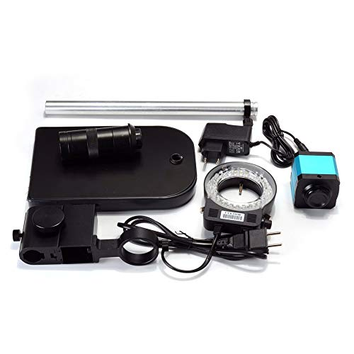 Pudincoco Professionelle EIN Satz 14MP CMOS HDMI Mikroskop Kamera TF Karte Video Recorder Für Industrie Labor Telefon Reparatur (schwarz)