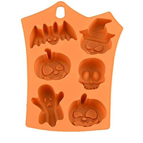 [Clearance] 80% Off Halloween Kürbisschädel Ghost Antihaft Silikon Backform 17,8 x 22,9 cm