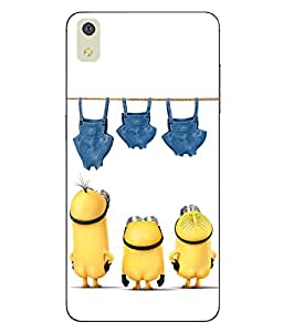 Case Cover Minions Printed White Hard Back Cover For LYF WATER 8