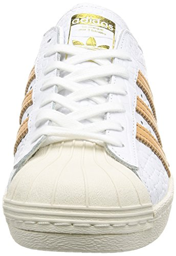 adidas Superstar 80s, Baskets Homme footwear white-footwear white-gold metallic