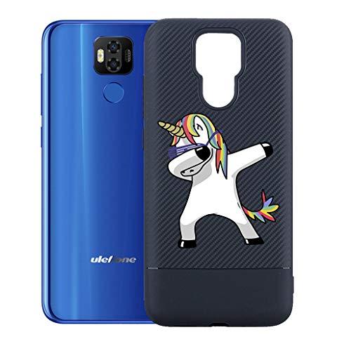 """ZXLZKQ Custodia Cool Pony per Ulefone Power 6 (6.3"""") Cover, Protezione Posteriore Morbido Silicone Trasparente Gel TPU Cover Slim Case per Ulefone Power 6 (6.3"""")."""