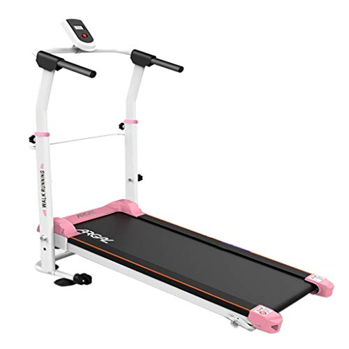 Tapis roulant Meccanico Multifunzione Home Machinery Indoor Walking Mini Simple Fitness Equipment Plug-in Gratuito (Color : Pink, Size : 120 * 59 * 19cm)