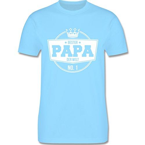 Shirtracer Vatertag - Bester Papa der Welt - Herren T-Shirt Rundhals Hellblau
