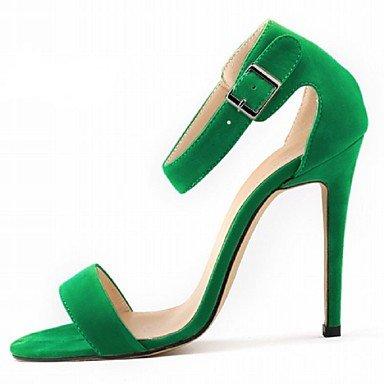 LQXZM Chaussures femmes talon aiguille Tissu Heels Partie &AMP; Soirée / Robe / CasualBlack / bleu / jaune / vert / Violet Green