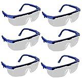 VlugTXcJ Occhialini da Nuoto 6pcs Occhiali protettivi di Sicurezza Occhiali di Sicurezza con Blue Lenti incolori Occhiali protettivi per Le attività Esterne
