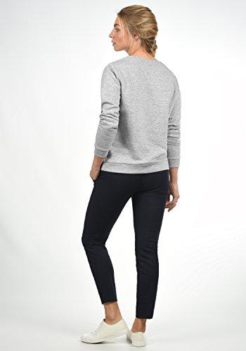 JACQUELINE de YONG by ONLY Taylor Damen Sweatshirt Pullover Sweater mit Rundhals-Ausschnitt und Stickerei aus hochwertiger Baumwollmischung, Größe:XL, Farbe:Light Grey Melange - 4