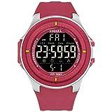 Daesar Reloj de Pantalla Única Relojes Electronicos Reloj de Estudiante Reloj Deportivo Reloj Resistente a los Golpes Rojo