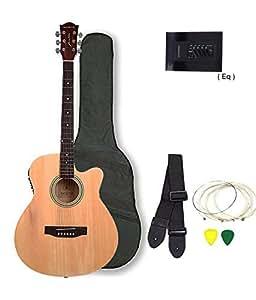Kadence Frontier Series Semi Acoustic Guitar Natural, Combo (Bag,strap,strings and 3 picks)