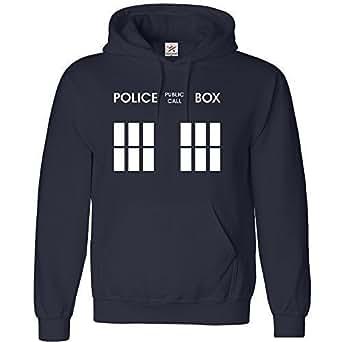 DOCTOR PHONE BOX KIDS Hoodie Sports Navy size 5/6 YEARS