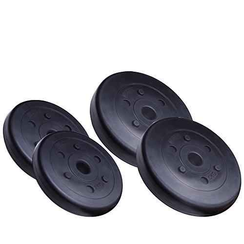 ScSPORTS 15 kg Hantelscheiben-Set Kunststoff 2 x 2,5 kg + 2 x 5 kg Gewichte 30/31 mm Bohrung