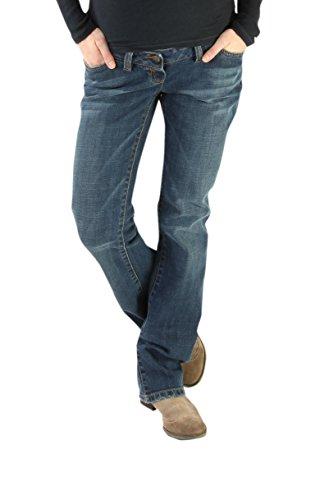 Wash Designer Jeans (Christoff Designer Jeans Stone wash, Leichter Boot-Cut Damen Jeanshose Umstandsmode 638/88)