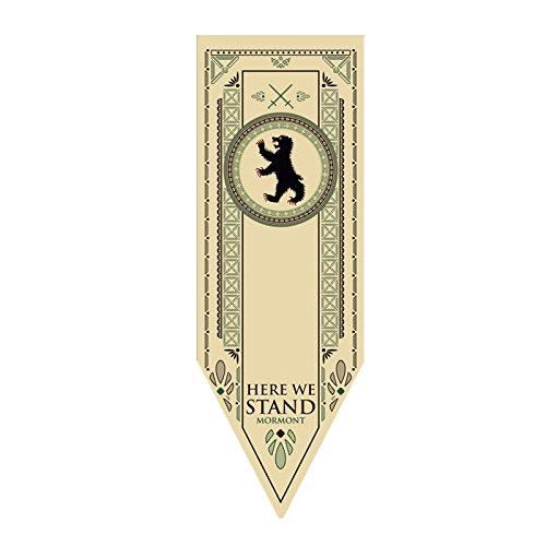 Ihomepark Game of Thrones Bandera Juego de Tronos Casa Tournament Wall Banner Flag Sigil 45*150cm House Mormont