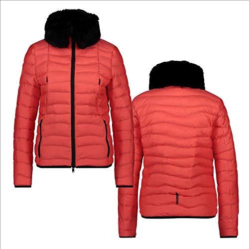 Eurostar Damen Steppjacke Amelia, Damensteppjacke, Jacke mit Kunstfellkragen Größe XL