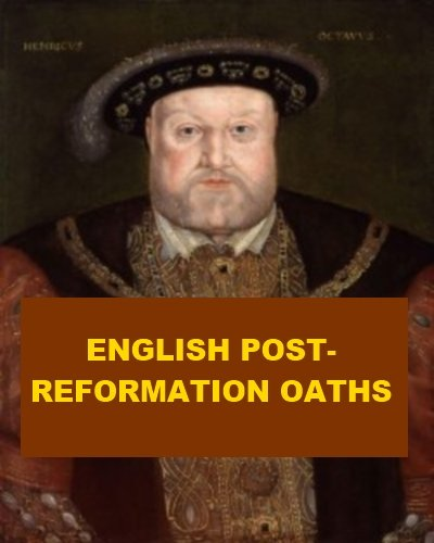 English Post-Reformation Oaths