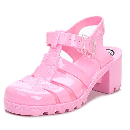 Juju Donna Flamingo Rosa Babe Jelly Sandali-UK 6