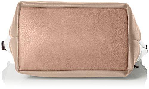 Tom Tailor  Acc 21021, Borsa a Spalla Donna Multicolore (Bianco/Rosa)