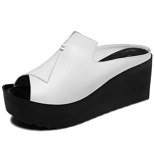 LVZAIXI Sandales femmes d'été, femmes dames   Augmenter les pantoufles   Sandales de bouche de poisson de loisirs de mode Pantoufles de fond épais