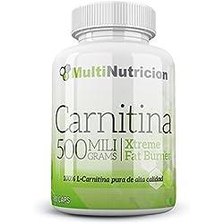Carnitina 500 L-Carnitina pura de alta calidad 180 Cápsulas.