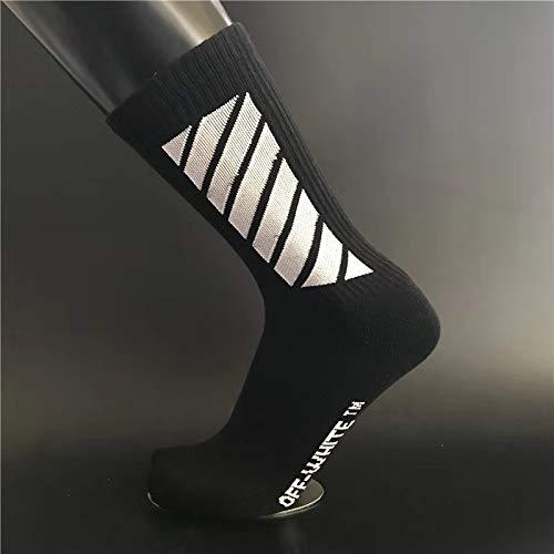 WADUANRUN Fußballstutzen/Männlich/Flut/Straße Hip Hop/Tube Socken/Flut Socken/Baumwolle Sport Basketball Socken - schwarz -