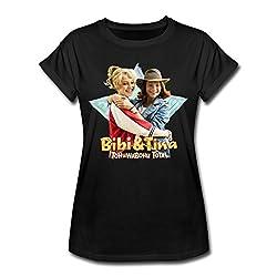 Bibi Und TinaTohuwabohu Total Freundinnen Frauen Oversize T-Shirt, S, Schwarz