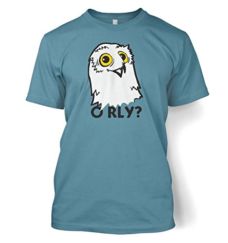 O RLY? Owl t-shirt Stone Blau