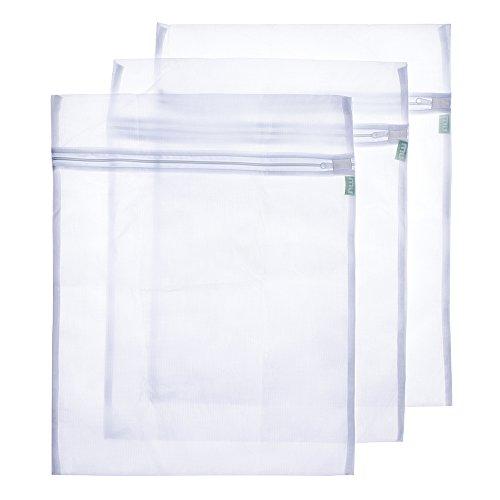 MIU COLOR® Filet à linge sac à lavage robuste avec fermeture éclair résistant idéal pour linge délicat fragile sensible lot de 3