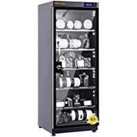 HINISO AD-120S 139 litres Electronic Dry Cabinet with Humidity Controller & Digital Display. (Black)