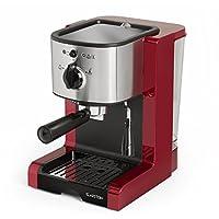 Klarstein Passionata Espresso Machine • 20 Bar • Capuccino • Milk Foam • 1350W • Stylish Design for Modern Kitchens • Steam Nozzle for Frothing Milk and Preparing Hot Drinks
