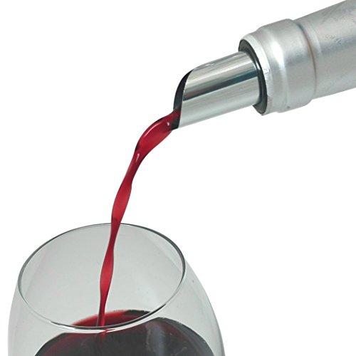 Tropfenfrei einschenken! Weinausgießer Plättchen (10er Pack) Einschenkhilfe, Dropsaver, Tropfenstopp, Flaschenausgießer, Ausgießer, Weinzubehör, Wine Disc #1