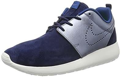 Nike W Roshe One Prm Suede, Women's Gym Shoes, Azul Marino (Mid Navy/Mtlc Bl Dsk-Sl-Crt Bl), 4.5 UK