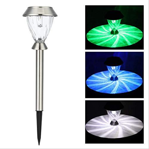 Explosion Modelle Solar LED Edelstahl Garten Rasen zum Einsetzen von dekorativen Leuchten 2er Pack -
