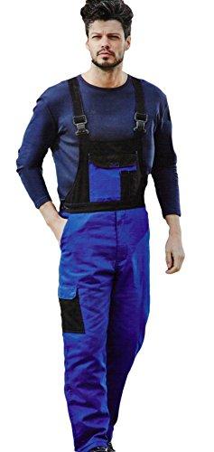 Thermo-Arbeitshose Latzhose Arbeitskleidung strapazierfähig - ideal für kalte Jahreszeiten - Farbe Blau/Schwarz - Größe: M-XXL von Brandsseller