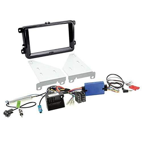 Kit installation autoradio support 2DIN + Adaptateur antenne pour VW/ Seat/ Skoda ap03