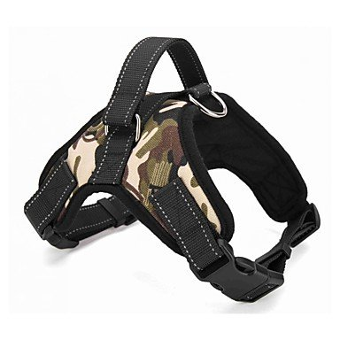 Hunde Geschirre Regolabile/Einziehbar Solide / camuflaje / Leopard Rot / Schwarz / Grün / Braun Stoff , black , (Gruppe Von Vier Kostüme)