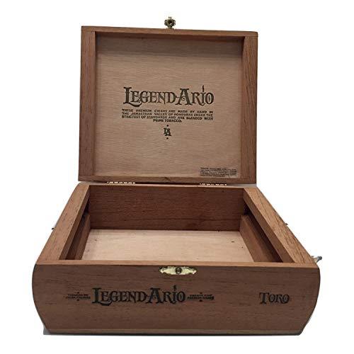 Zigarren Premium Holz-Papierbox leer Box für Basteln, Gitarren oder Aufbewahrung Legend Ario Toro braun