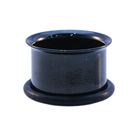 BLACK Single Flared Ear Tunnel 14mm