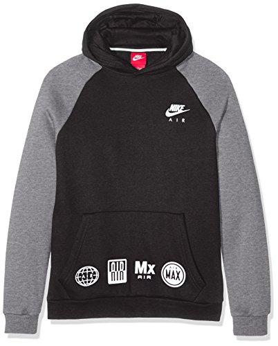 Nike B Nsw Hd Po Air - Sweatshirt für Jungen S schwarz (black / carbon heather / white) (Pullover Air)