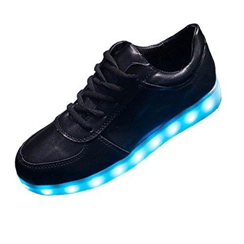 Sport Leuchtend Aufladen 7 Led Handtuch C40 Sportschuhe Sneaker Turnschuhe erwa kleines Farbe present Unisex Usb junglest® Für Schuhe fnq8z00YW