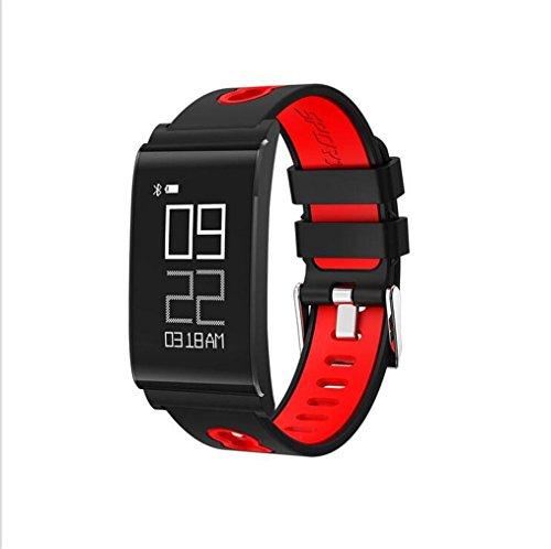 WILK-A Smart Watch Smart Armband Runde Bildschirm Herzfrequenz Blutdruck Blutsauerstoff Schlaf Überwachung Sport Armband Unisex Uhren , red