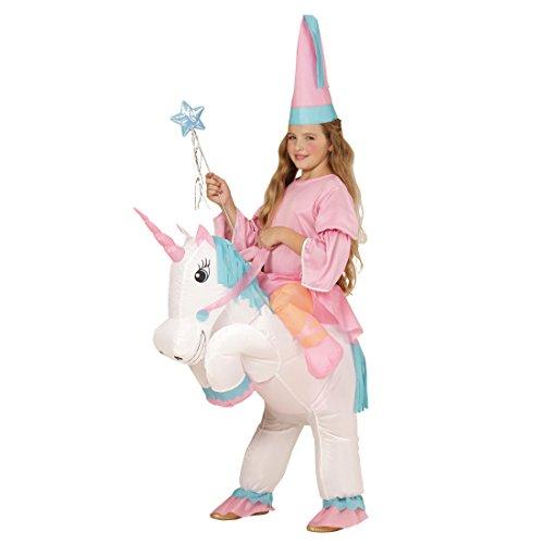 Amakando Pferdekostüm Kind Aufblasbares Einhorn Kostüm Elfenkostüm Mädchen Kinderkostüm Pferd Märchen Verkleidung Kinder Feenkostüm (Mädchen Pferd Für Kostüm)