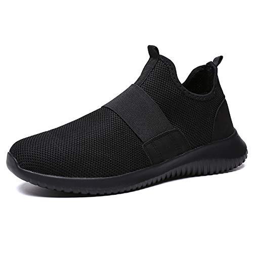 JIANKE Zapatillas de Deporte para Hombre Respirable Sneakers Ligero Zapatos para Correr Negro 42 EUTamaño...