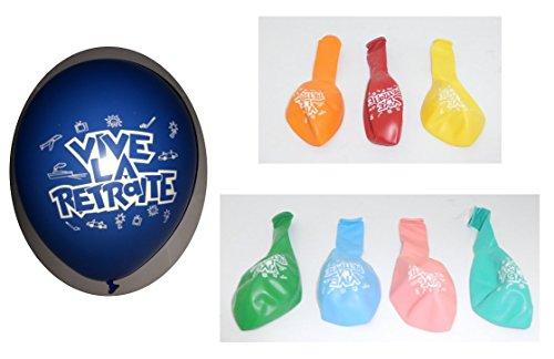 Lot 10 Ballons Vive la Retraite Multicolore 31cm Mariage Decoration - 395