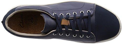 Clarks Ballof Walk Dark Blue Leather Bleu