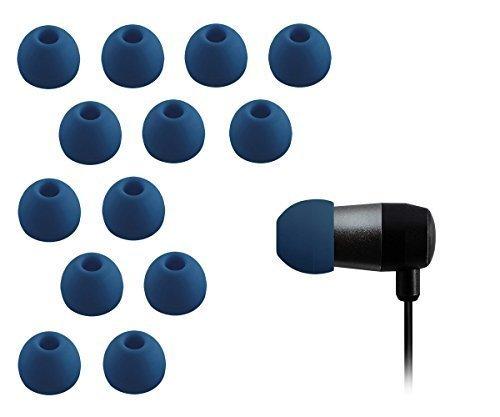 Xcessor Triple Flange 4 Paar (Satz Mit 8 Stück) Gummi Silikon Ohrpolster Ohrstöpsel Für In-Ear Ohrhörer. Kompatibel Mit Den Meisten In-Ohr Markenkopfhörern. Größe: M (Mittel). Farbe: Schwarz - 4