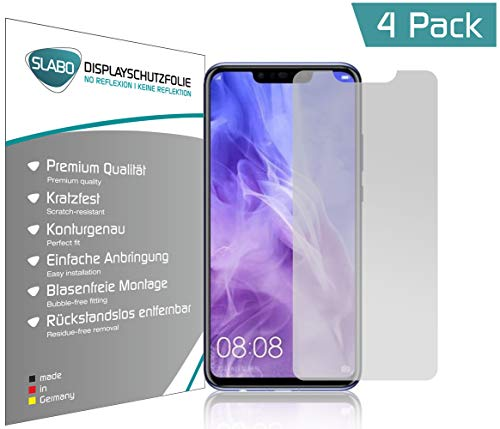 Slabo 4 x Bildschirmschutzfolie für Huawei Nova 3 | 3i | P Smart + Bildschirmfolie Schutzfolie Folie Zubehör No Reflexion MATT