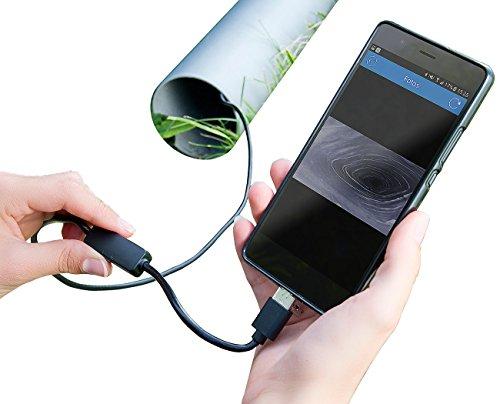 Somikon USB Camera: USB-HD-Endoskop-Kamera für PC und OTG-Android-Smartphone, 2 m, IP67 (Endoskop Handy)