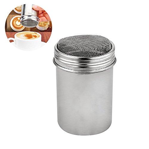 1X Toruiwa Edelstahl Powder Shakers mit Deckel Mesh Shaker Pulver Dosen für Kaffee Kakao Zimt Pulver Würzen (Würzen, Shaker)