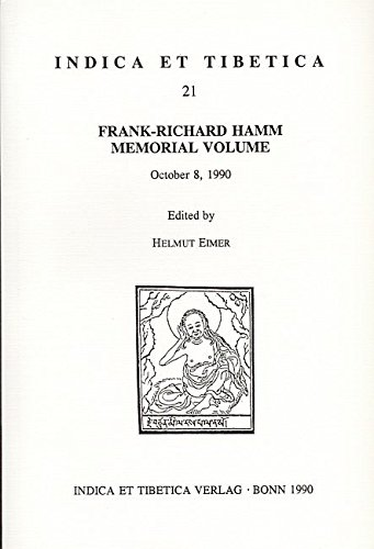 Frank-Richard Hamm Memorial Volume: October 8, 1990