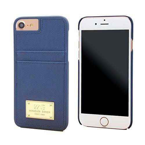 iPhone 7Leder Kupplung Wallet Luxus Wristlet Case Strap Cover für iPhone 711,9cm, dunkelblau